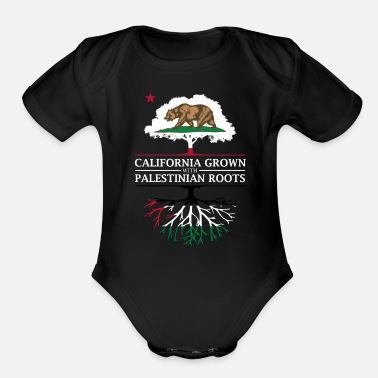 Palestinian California Grown with Palestinian Roots - Organic Short Sleeve Baby Bodysuit