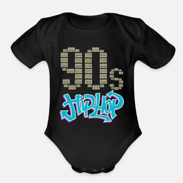 Classic Hip Hop 90s Hip Hop Shirts Hip Hop Gifts Classic Hip Hop - Organic Short-Sleeved Baby Bodysuit