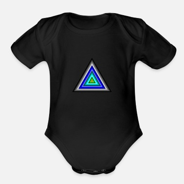 Triangle Triangles in Triangle - Organic Short-Sleeved Baby Bodysuit