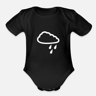 Rain Rainy Cloud - Organic Short Sleeve Baby Bodysuit