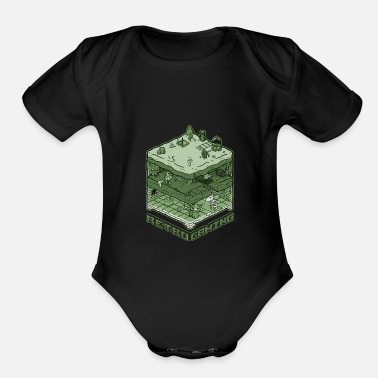Game Retro Gaming - Organic Short-Sleeved Baby Bodysuit