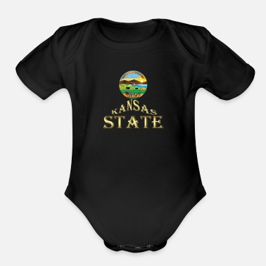 Kansas Kansas - Organic Short-Sleeved Baby Bodysuit