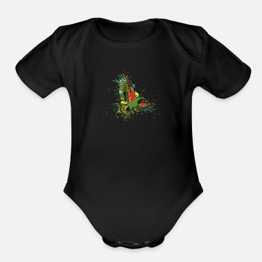 Footer footer - Organic Short-Sleeved Baby Bodysuit