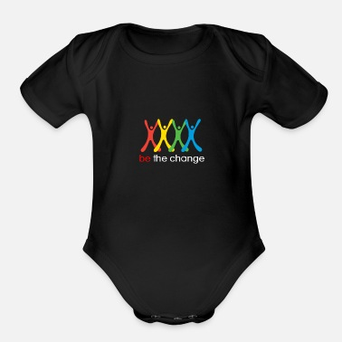 Change be the change - Organic Short-Sleeved Baby Bodysuit