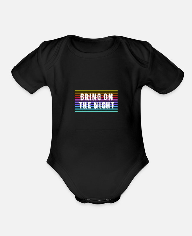Design Baby One Pieces - Bring on the Night - Organic Short-Sleeved Baby Bodysuit black