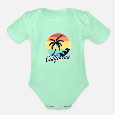California California - Organic Short-Sleeved Baby Bodysuit