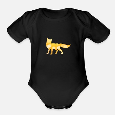 abstract fox - Organic Short-Sleeved Baby Bodysuit