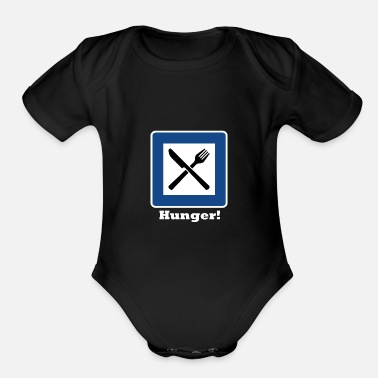 Hunger Hunger! - Organic Short-Sleeved Baby Bodysuit