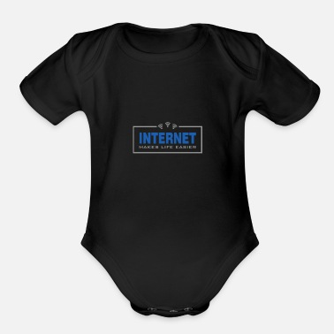 Internet Internet - Organic Short-Sleeved Baby Bodysuit