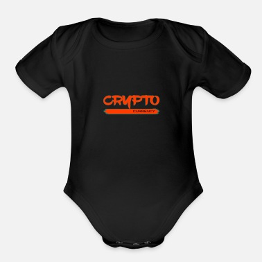 Currency Crypto currency - Organic Short-Sleeved Baby Bodysuit