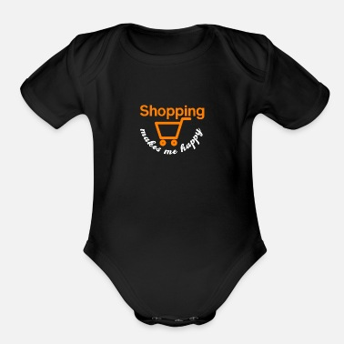 Shopping Happy Shopping - Shopping, shopping - Organic Short-Sleeved Baby Bodysuit