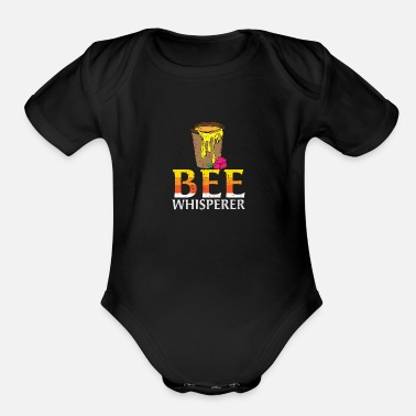 Save Beewhisperer - honey, beekeepers, bees - Organic Short-Sleeved Baby Bodysuit