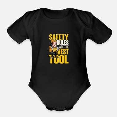 Work Safety Safety rules - Organic Short-Sleeved Baby Bodysuit