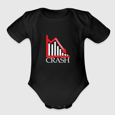 Stockmarket Stocks Market Crash Crisis - Organic Short Sleeve Baby Bodysuit