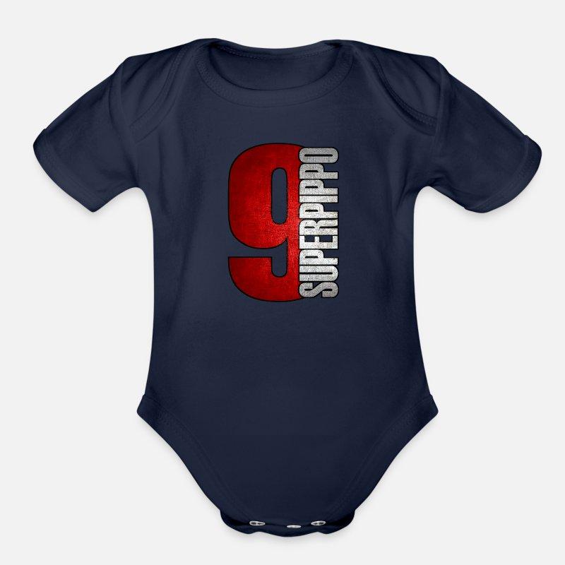 Pippo Inzaghi Ac Milan 1899 Football Soocer Club Organic Short Sleeved Baby Bodysuit Spreadshirt