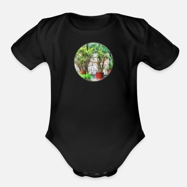 Greenhouse Bonsai in Greenhouse - Organic Short-Sleeved Baby Bodysuit
