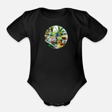 Greenhouse Greenhouse With Cactus - Organic Short-Sleeved Baby Bodysuit