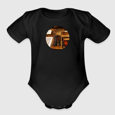 Capital A - Organic Short Sleeve Baby Bodysuit