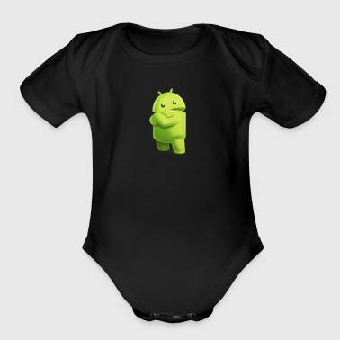 Android (android) - Organic Short Sleeve Baby Bodysuit