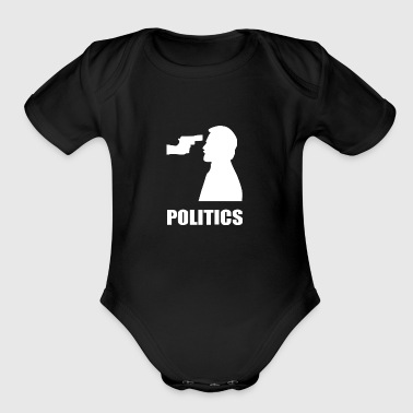 POLITICS - Organic Short Sleeve Baby Bodysuit