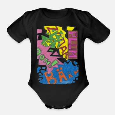 Comic 1 - Organic Short-Sleeved Baby Bodysuit