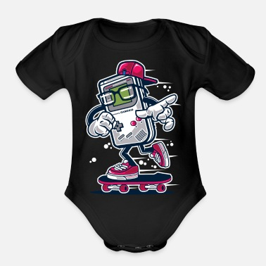 Games Game Boy Kid - Organic Short-Sleeved Baby Bodysuit