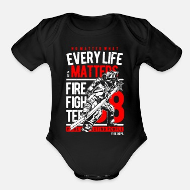Fire Fighter Fire Fighter - Organic Short-Sleeved Baby Bodysuit