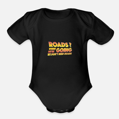 Future Roads from Back to the Future - Organic Short-Sleeved Baby Bodysuit