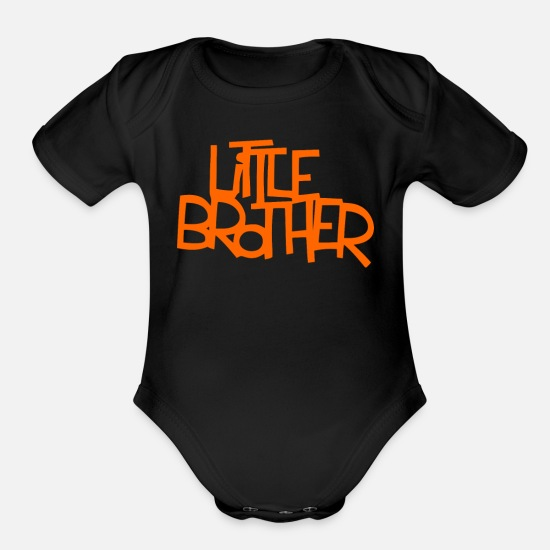 Little Brother Baby Clothing - Little brother - Organic Short-Sleeved Baby Bodysuit black