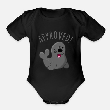 Approved Approved Seal Of Approval - Organic Short-Sleeved Baby Bodysuit