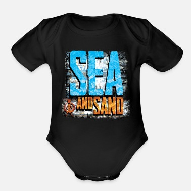 Sand sea and sand - Organic Short Sleeve Baby Bodysuit