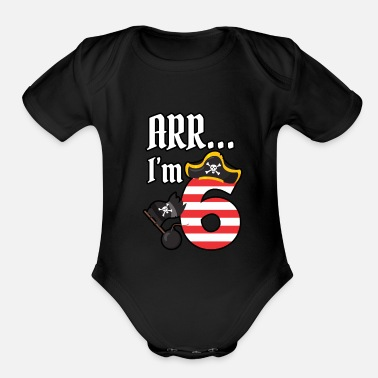 Pirate Pirate Birthday Party Gift Gift Idea - Organic Short-Sleeved Baby Bodysuit