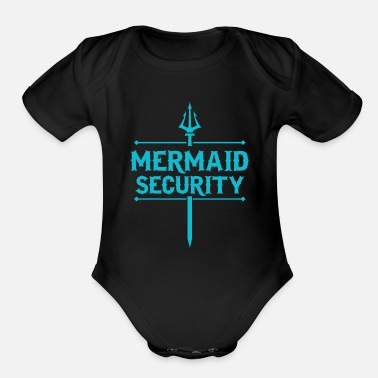 Security Service mermaid security service security gift - Organic Short-Sleeved Baby Bodysuit