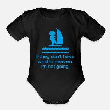 Wind Surf wind surfing - Organic Short Sleeve Baby Bodysuit