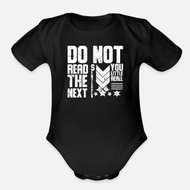 Flags Rebel Flag Rebellion Rebellious Fun Humor - Organic Short-Sleeved Baby Bodysuit