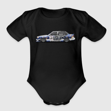 Volvo 850 Saloon TWR BTCC Super Touring Car - Organic Short Sleeve Baby Bodysuit