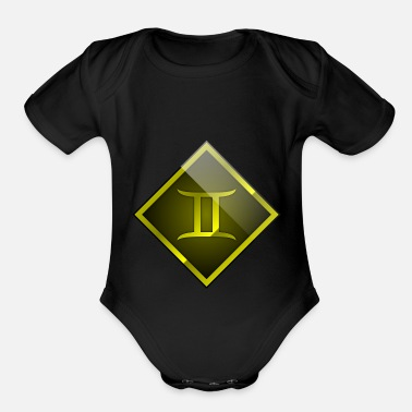 Gemini Gemini / Sign of Zodiac 2 - Organic Short Sleeve Baby Bodysuit