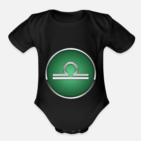 Sign Baby Clothing - Sign of Zodiac 3.4 - Organic Short-Sleeved Baby Bodysuit black