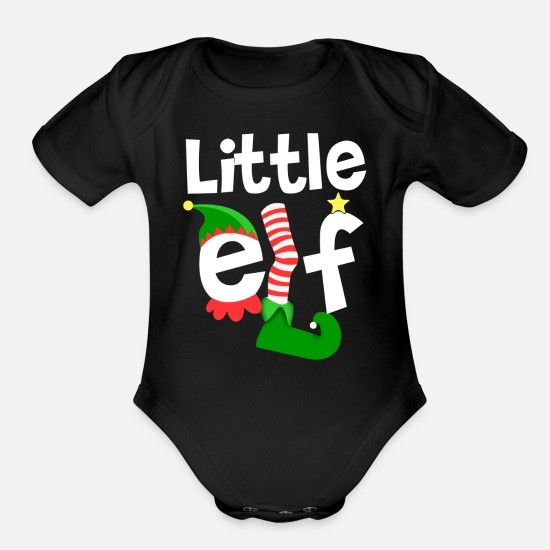 Elf Baby Clothing - Little Elf - Organic Short-Sleeved Baby Bodysuit black