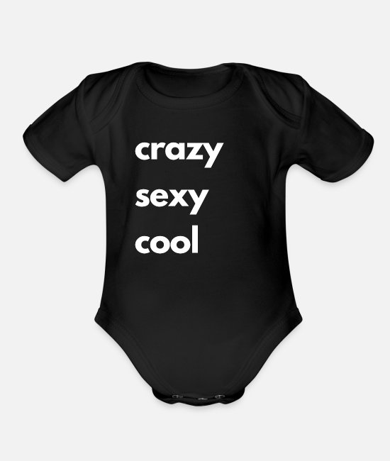 Rap Baby One Pieces - crazy sexy cool - Organic Short-Sleeved Baby Bodysuit black