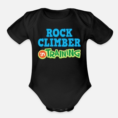 Rock Climber Rock Climber In Training - Organic Short-Sleeved Baby Bodysuit
