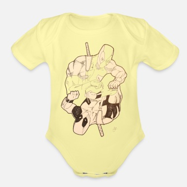 Mc Mr Pool - Organic Short-Sleeved Baby Bodysuit