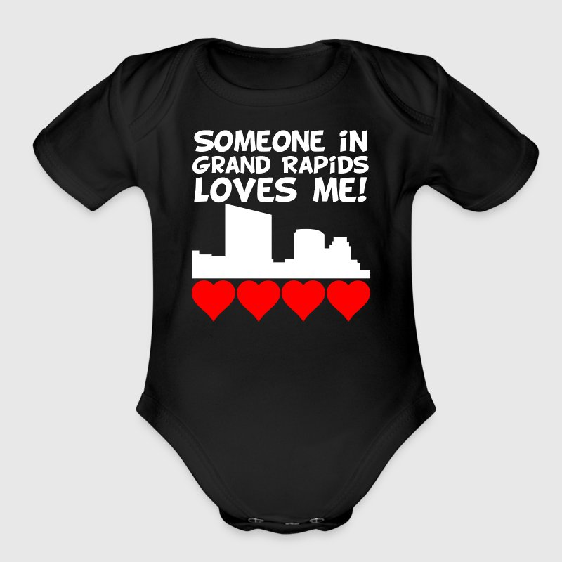 Someone In Grand Rapids Michigan Loves Me - Short Sleeve Baby Bodysuit