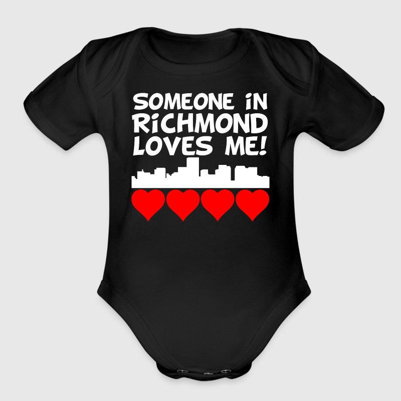 Someone In Richmond Virginia Loves Me - Short Sleeve Baby Bodysuit