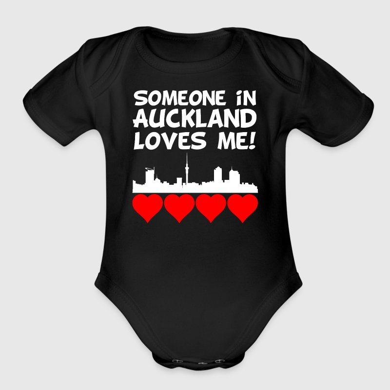 Someone In Auckland New Zealand Loves Me - Short Sleeve Baby Bodysuit