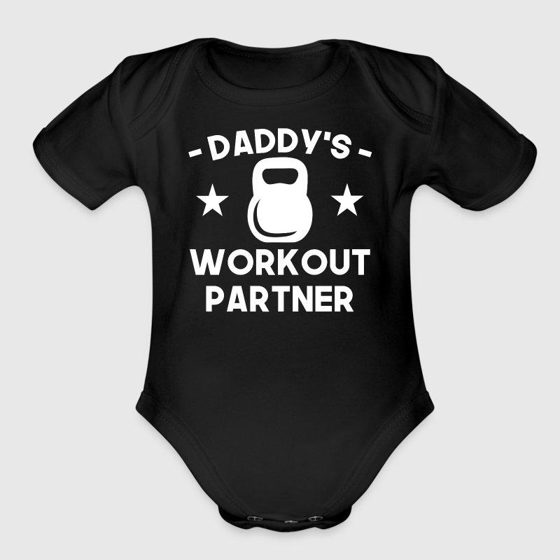 Daddy's Workout Partner - Short Sleeve Baby Bodysuit