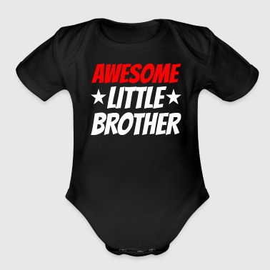 Awesome Little Brother - Organic Short Sleeve Baby Bodysuit