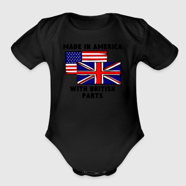 Made In America With British Parts - Organic Short Sleeve Baby Bodysuit