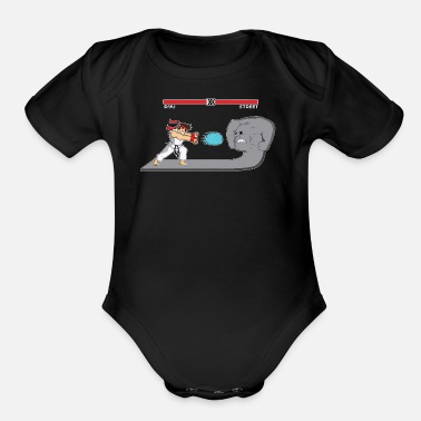 Street Fighter Fighter Of Streets - Organic Short-Sleeved Baby Bodysuit