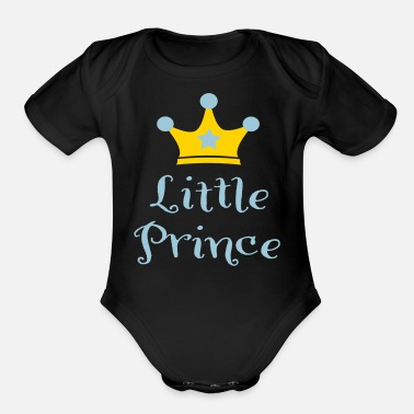 Prince little prince - Organic Short Sleeve Baby Bodysuit